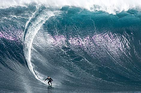 Try this on for size: Damon Eastaugh surfs the monster wave believed to be the biggest ever ridden in Australia. It was estimated at 14.5 to 16 metres high. ... Picture: jamiescottimages.com