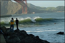 Fort Point, San Francisco -- surf photos.